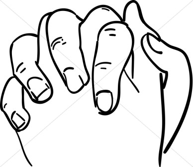 Student Folded Hands Clipart.