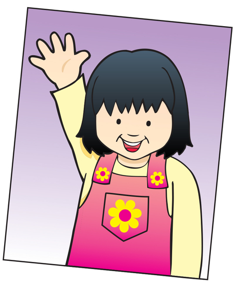 Post pictures of kids with hands up to remind them to raise hand.