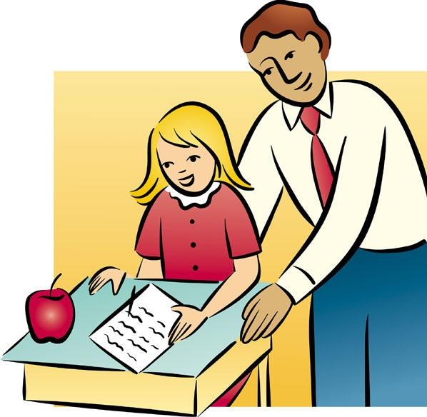 Teacher Helping Student Clipart.