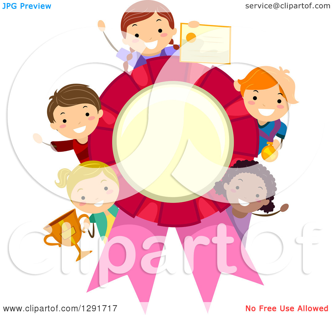 Student holding award clipart.