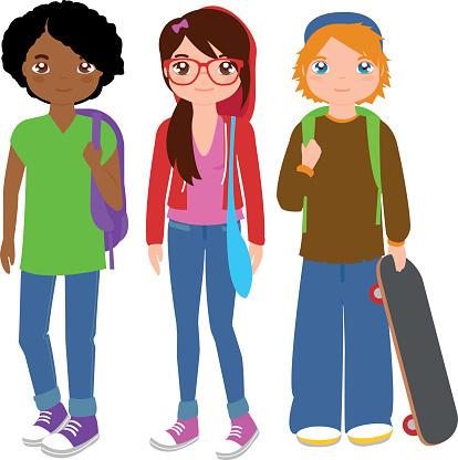 High School Students Clipart.