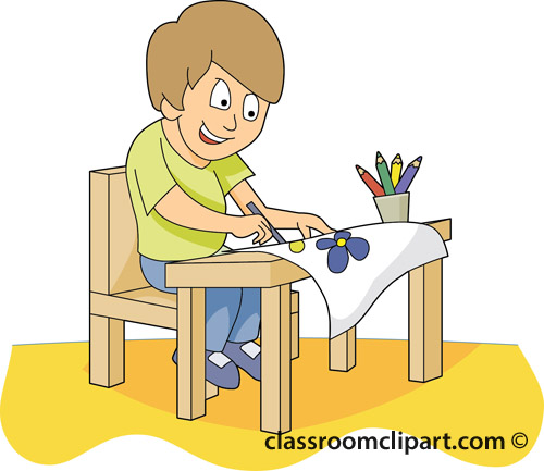Student Painting School Clipart.