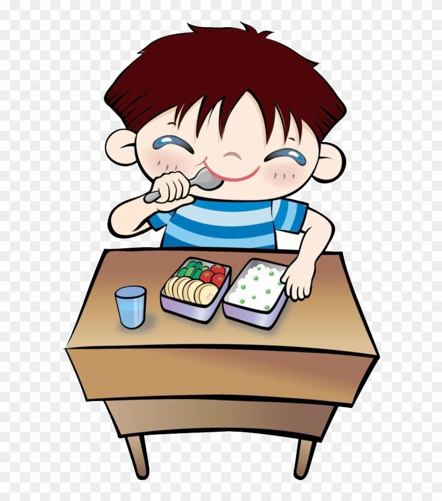 Clip Transparent Download Student Eating Lunch Clip.