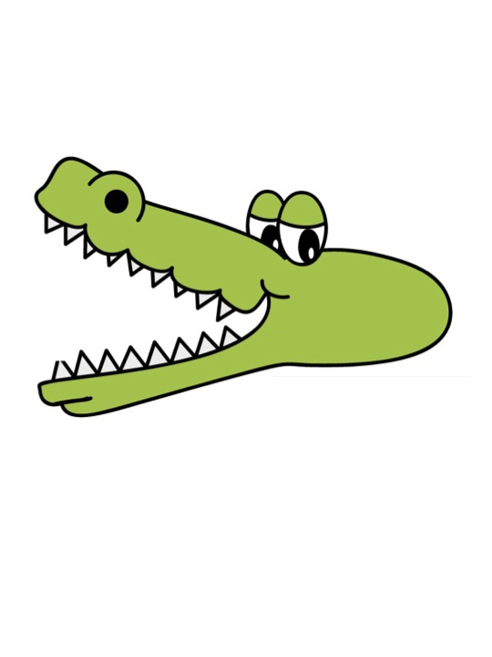 alligator with wide open mouth.