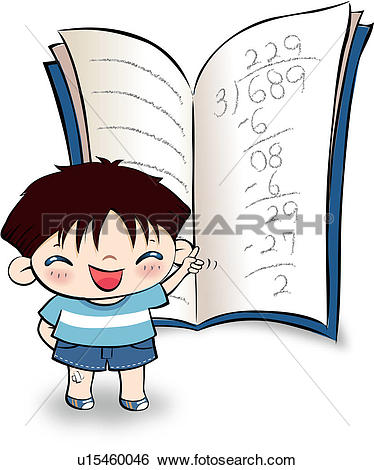 Stock Illustration of note, opening mouth, student, school, book.