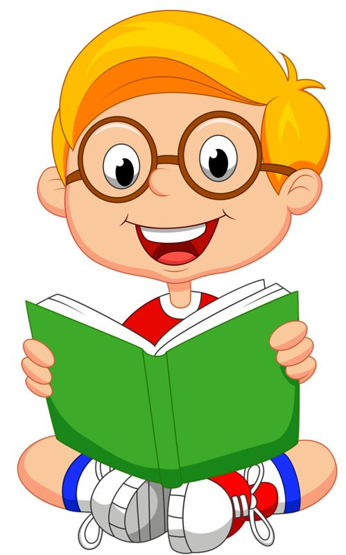 Student Reading Book Clipart.