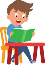 Clipart Student Reading Tn Boy Student Sitting At Desk.