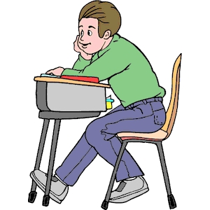Student Reading At Desk Clipart Clipground