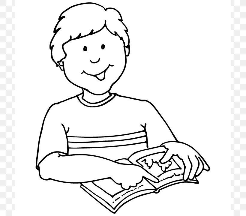 Student Reading Black And White Clip Art, PNG, 720x720px.
