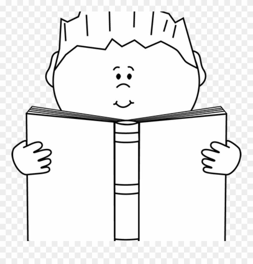 Reading Clipart Black And White Reading A Book Clip.