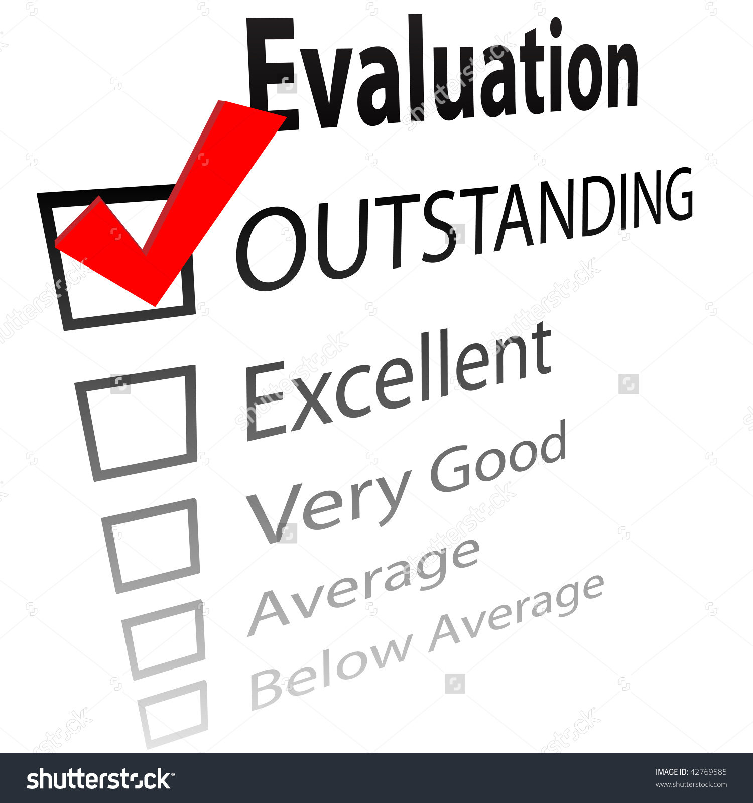 Student Evaluation Clipart.