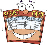 Student report with clipart.
