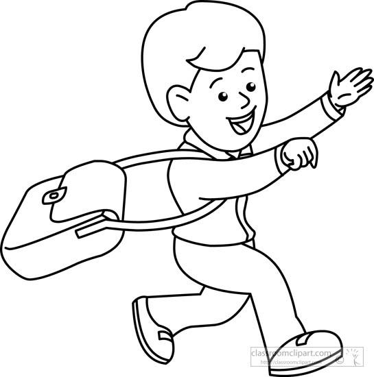 Student Running Clipart