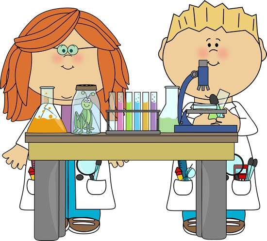 Science Kids Clipart.