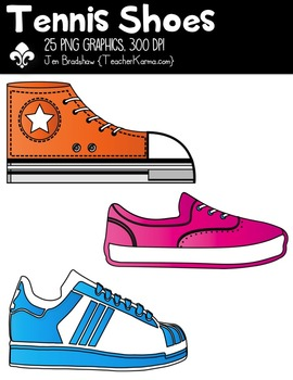 Tennis Shoes Clipart ~ Commercial Use OK ~ Sports.