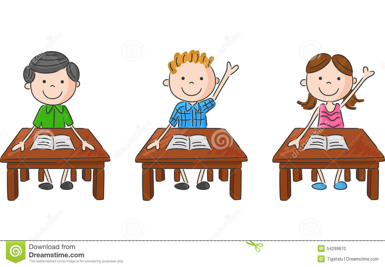 Sit At Table Clipart.
