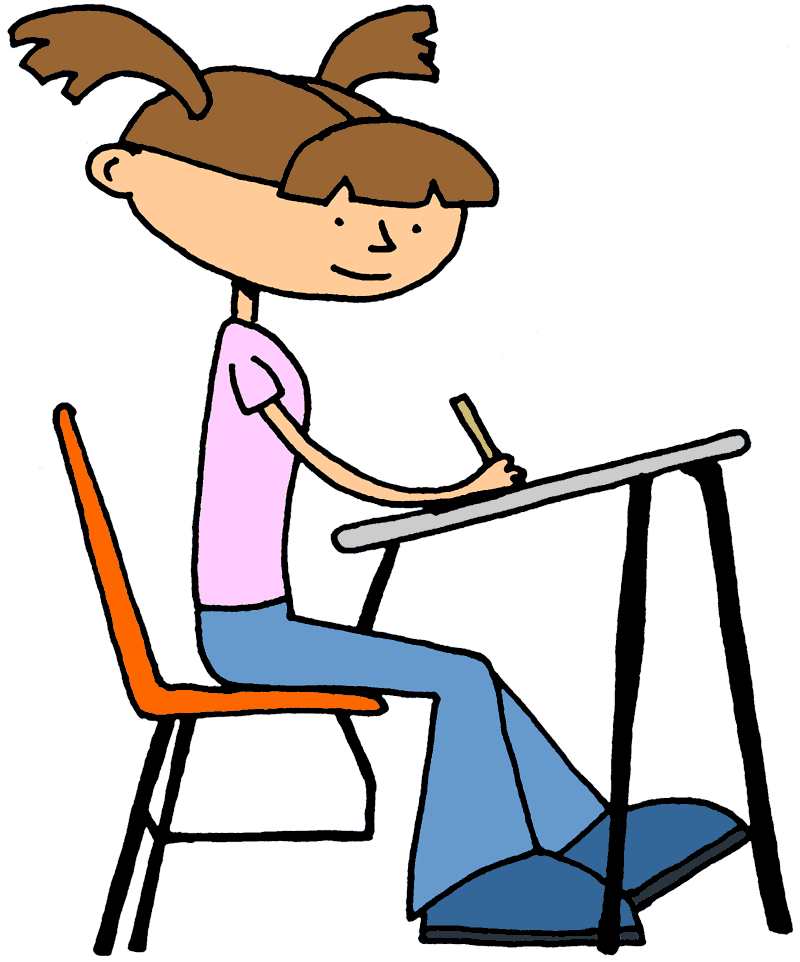 Student Sitting Clipart.