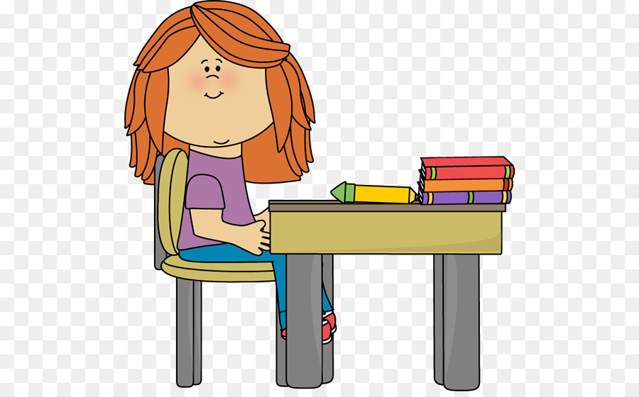 Student sitting at desk clipart 6 » Clipart Station.
