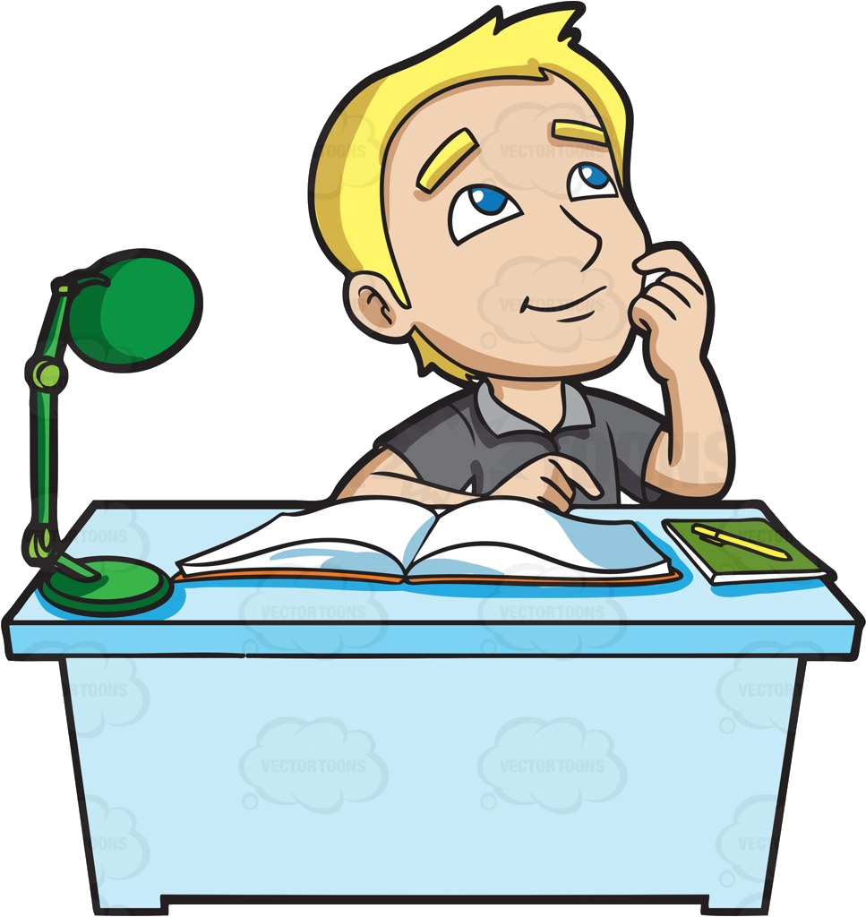 College Student Studying In Clipart Collection Transparent.