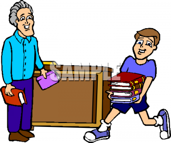 Student Help Ing In Office Clipart.
