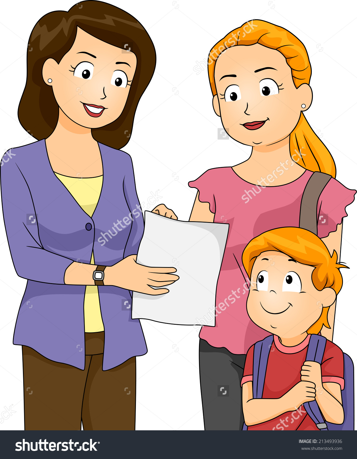 Kids Talking To Teacher Clip Art image information.