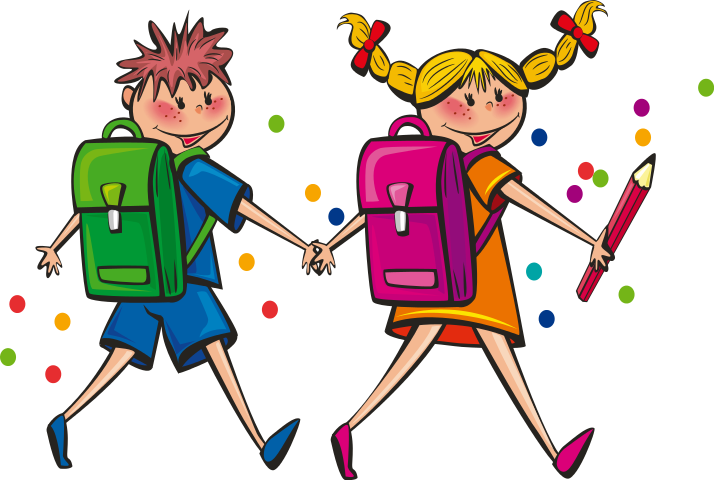 Walking Student Clipart.