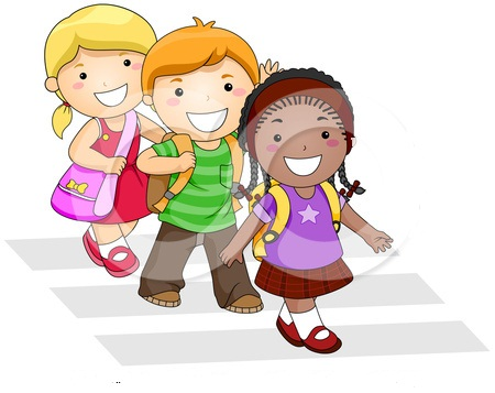student walking home clipart clipground
