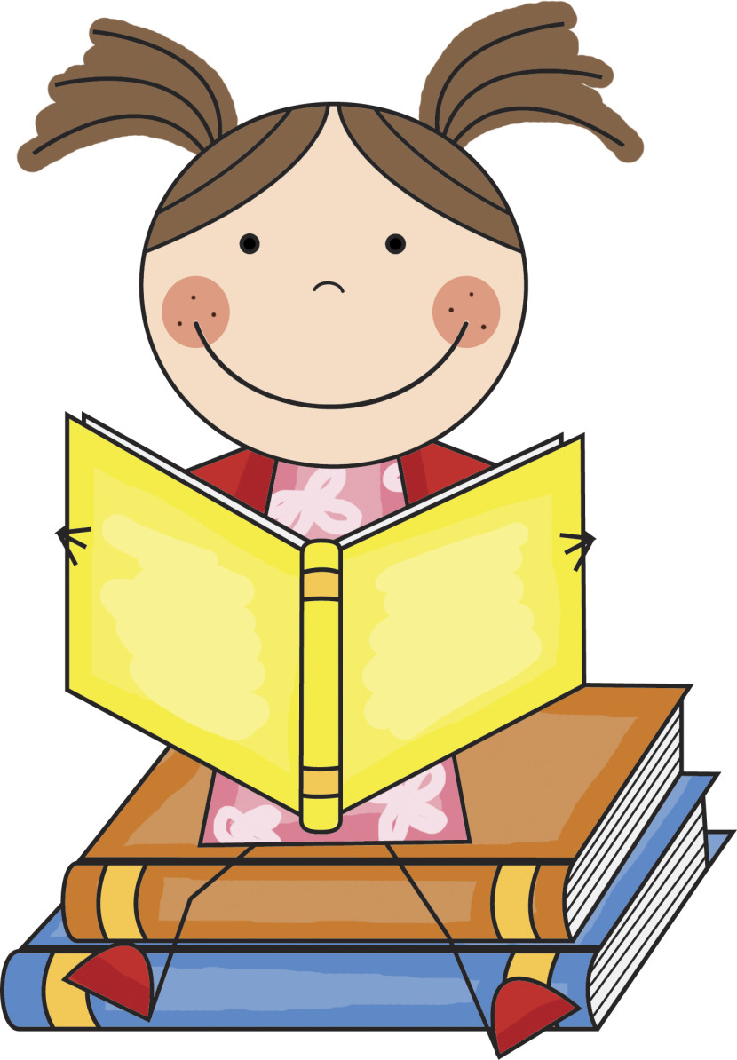 Student Reading Clipart.
