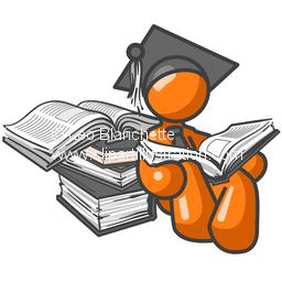 ClipArt Illustration Orange Man College Student or Professor.