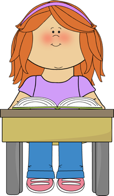 Student Reading School Book Clip Art.