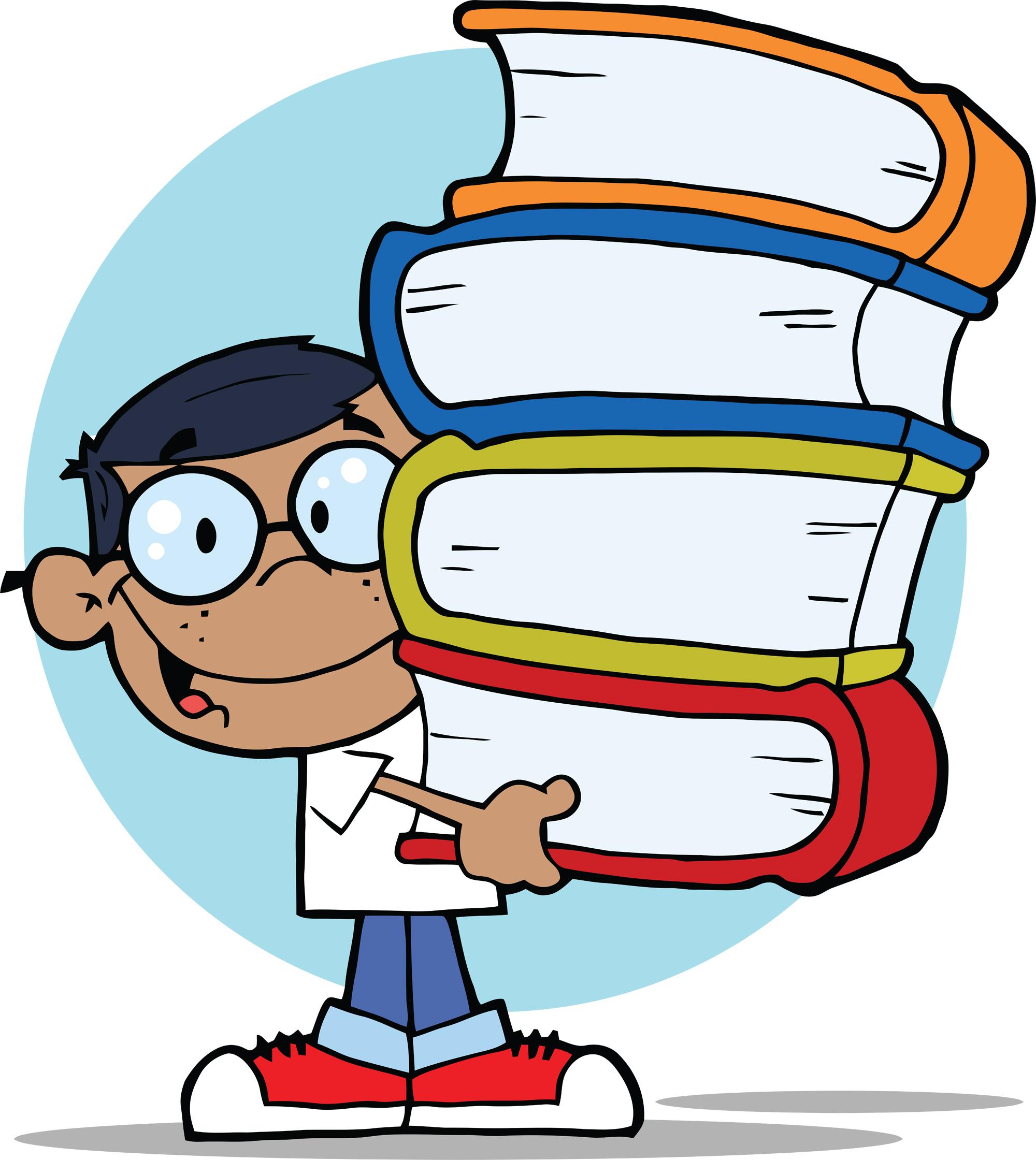 Showing post & media for Cartoon school book clip art.