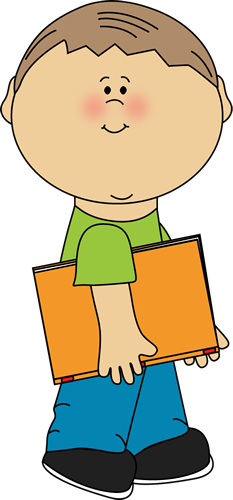 Student with books clipart 1 » Clipart Station.