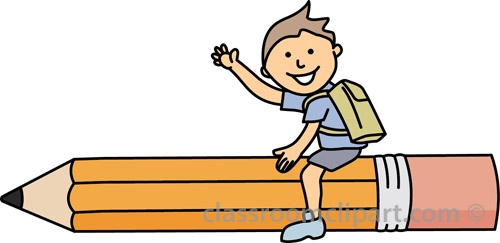 Student With Pencil Clipart.
