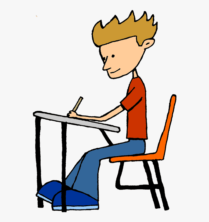 Sitting At Desk Clipart , Png Download.