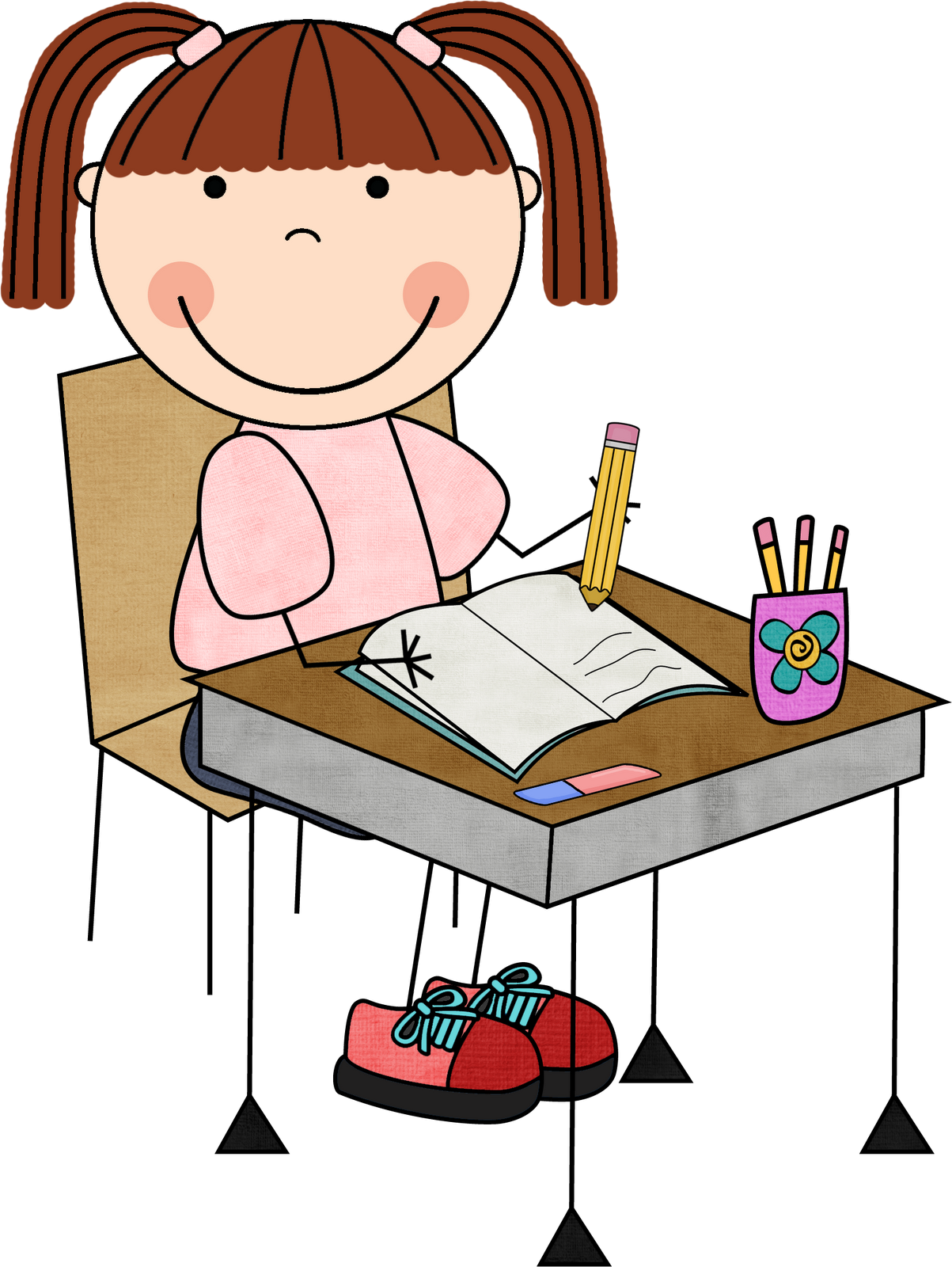 242 Student Writing free clipart.