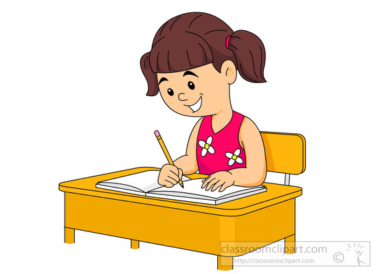 Student Clipart Writing.