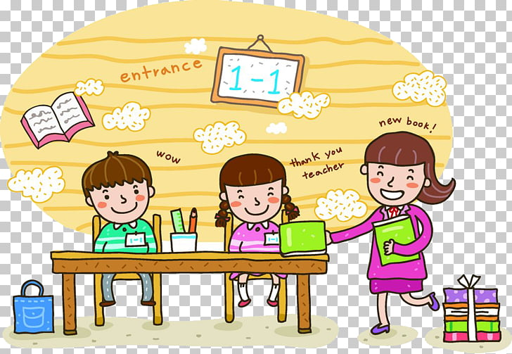 Student School Teacher Illustration, Learning students PNG.