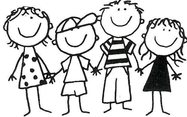 Group Of Friends Clipart Black And White.