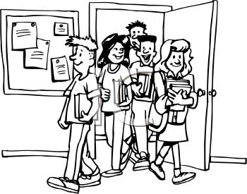 Entering Classroom Clipart.