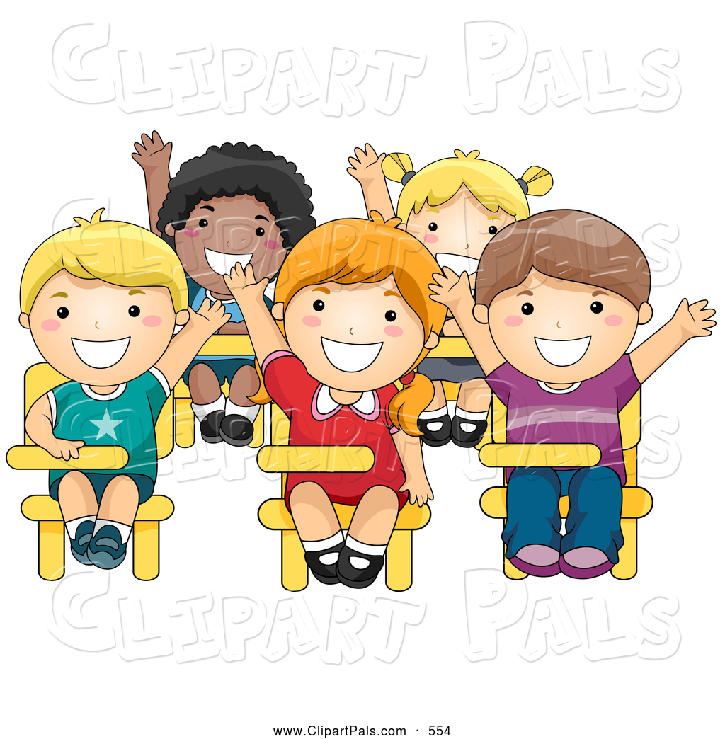 students happy clipart