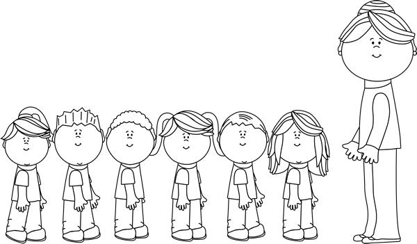 Black And White Clipart Students.