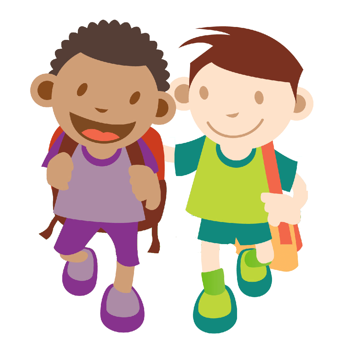 Student Walking Clipart.
