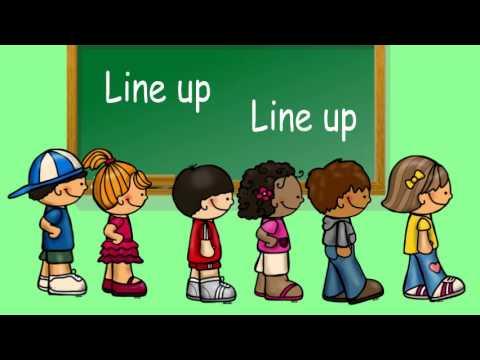 Children Line Up Clipart.