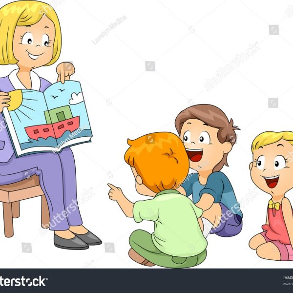 Illustration Kids Listening Story Stock Vector (Royalty Free.