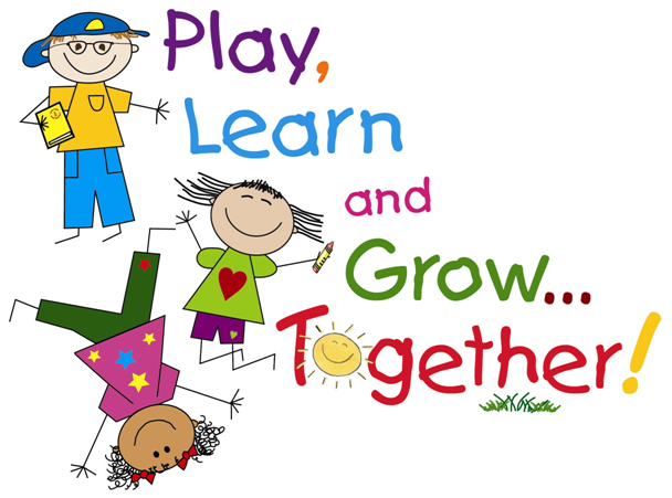 Clip art of students playing,.