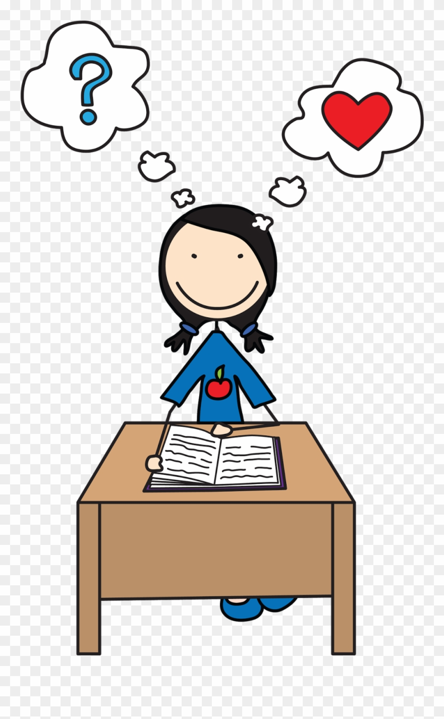 Students Reading Girl Student Clipart.