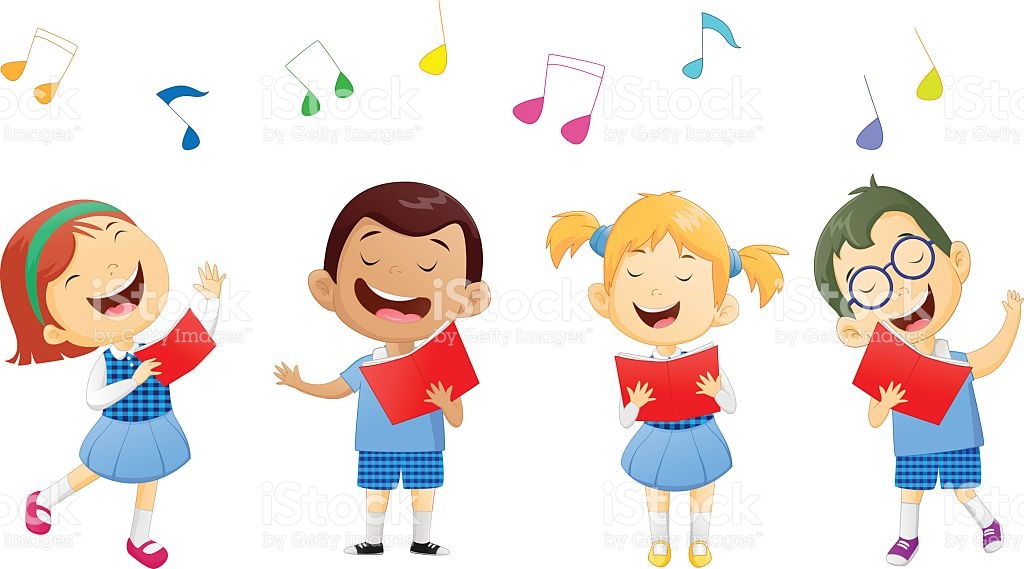Kids Singing And Dancing Clipart.
