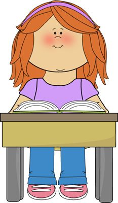Student Reading School Book.