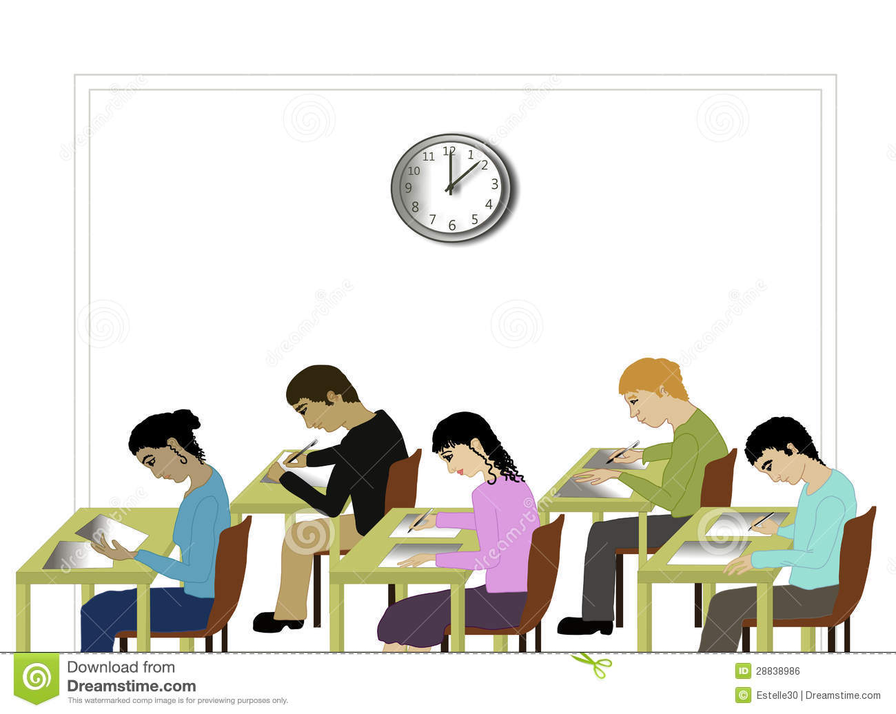 Testing Students Clipart.