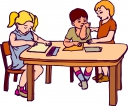 Students Working At Table Clipart#1986245.